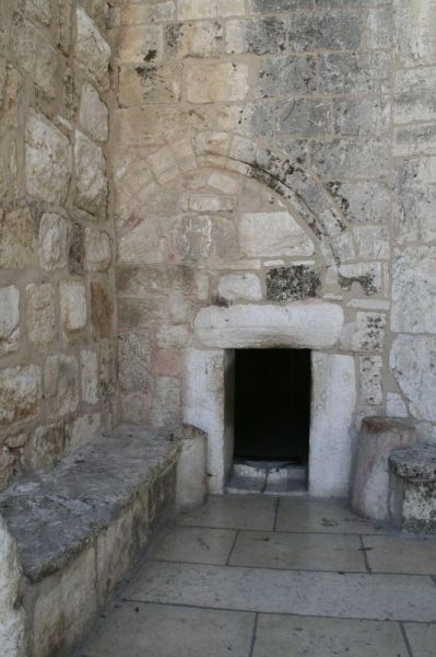 The Door of Humility leads into the Church of the Nativity (Basilica of the Nativitiy).